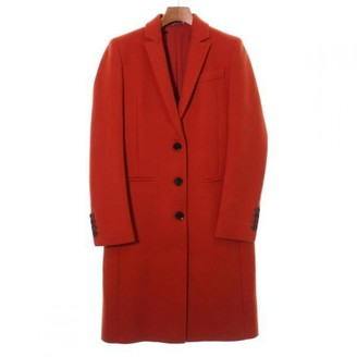 Gucci Orange Wool Coats