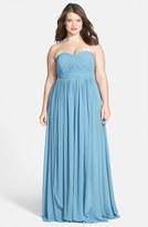 Jenny Yoo Plus Size Women's 'Aidan' Convertible Strapless Chiffon Gown