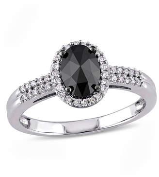 Black Diamond MODERN BRIDE Midnight Black Womens 1 CT. T.W. Genuine 14K White Gold Engagement Ring