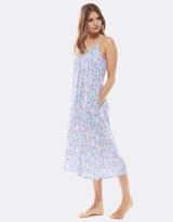 Deshabille Art Deco Night Dress Blue