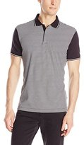 Calvin Klein Men's Interlock Feeder Stripe Polo