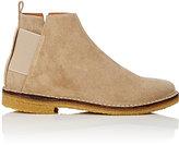 Barneys New York Men's Elastic-Detail Suede Jodhpur Boots-BEIGE, TAN