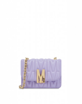 Moschino M Quilted Shoulder Bag Woman Purple Size U It - (one Size Us)