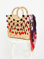 Ombre Straw Pom Basket by GCK at Free People
