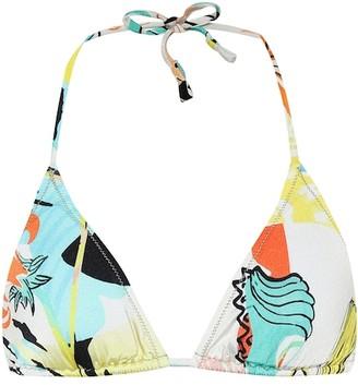 Reina Olga Love printed bikini top