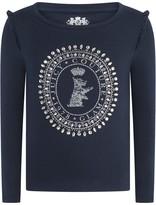 Juicy Couture Navy Scottie Long Sleeve Top