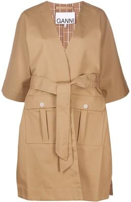 Ganni Kimono belted coat