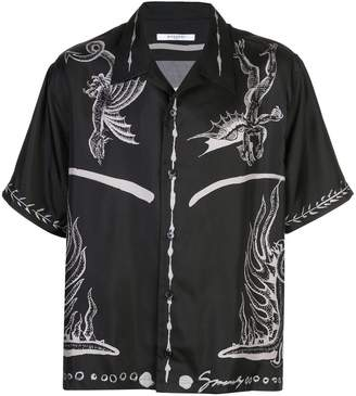 Givenchy dragon print shirt