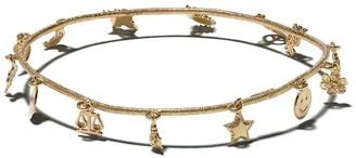 Carolina Bucci 18kt yellow gold Lucky Charm Florentine finish bracelet