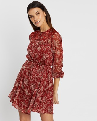 French Connection Paisley Print Long Sleeve Dress
