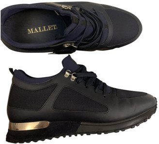 Mallet Navy Leather Trainers
