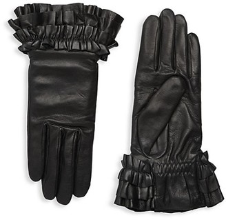 Agnelle Frou Frou Leather Gloves