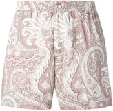 Brioni printed swimming shorts - men - Cotton/Polyamide - S