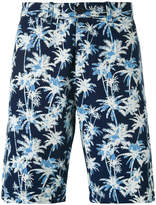 Edwin palm tree print shorts