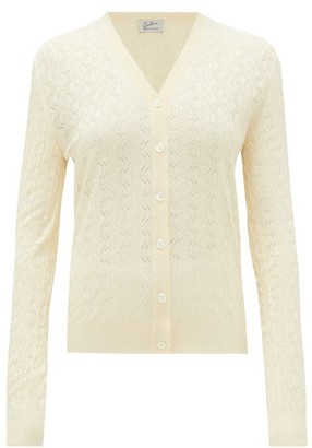 Giuliva Heritage Collection The Zoe Lace-knitted Silk Cardigan - Womens - Beige