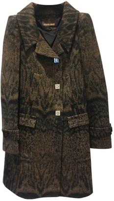 Roberto Cavalli Brown Wool Coats