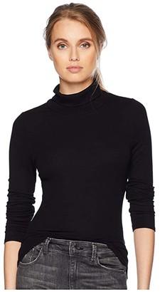 LAmade Britt Long Sleeve Turtleneck (Black) Women's Clothing