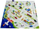 Little Helper 3D Childrens Play Rug in Mini City Design, Multicoloured (200 x 200cm)