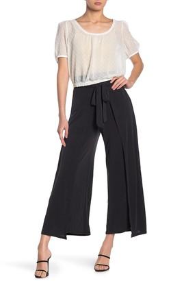 Socialite Tie Waist Wide Leg Crop Pants