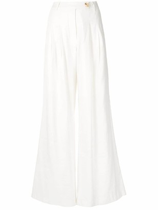 ANNA QUAN Mateo pleated wide leg trousers