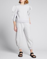 Thumbnail for your product : Tibi Sculpted Cropped Sweatpants