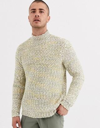 ASOS DESIGN heavyweight sweater in textured oatmeal slub yarn