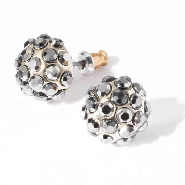 Vera Wang Princess button stud earrings