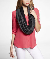 Express Shimmer And Solid Infinity Scarf