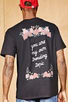 Forever 21 FOREVER 21+ Bleach Rose Graphic Tee