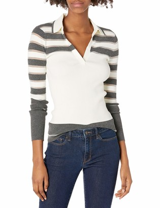 Bailey 44 Women's Two Tone Stripe Pullover with Collar