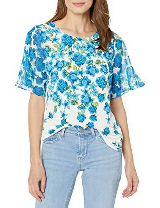 Calvin Klein Women's Chiffon Sleeve TOP