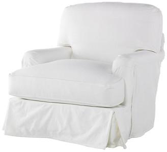 One Kings Lane Caroline Swivel Chair - White