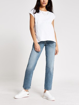 River Island Maternity Over Bump Straight Leg Jeans - Mid Authentic