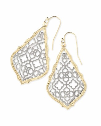 Kendra Scott Addie Drop Earrings for Women in Mixed Metal Filigree Fashion Jewelry 14k Gold-Plated and Rhodium-Plated