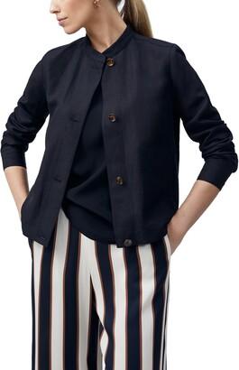 Lafayette 148 New York Becker Silk & Linen Jacket