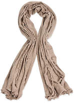 One Kings Lane Lettuce Edged Cashmere-Blend Wrap - Sand