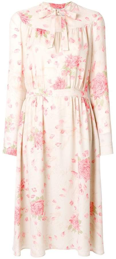 Valentino rose print dress
