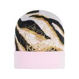 Kenzo KidsGirls Pink Tiger Stripe Knitted Hat