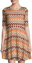 Glamorous Patterned A-Line Dress, Multi