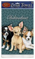 Fiddler's Chihuahua Puppies Kitchen Tea Towels Set/2
