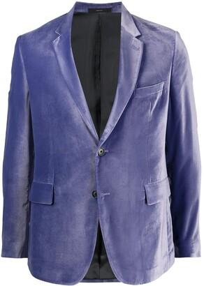 Paul Smith Buttoned Velvet Blazer