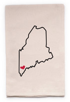 "ellembee Home ""Maine State"" Tea Towel"