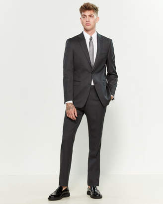 Calvin Klein Two-Piece Charcoal Wool Slim Suit