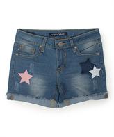 Vigoss Peeble Star Appliqué Shorts - Girls