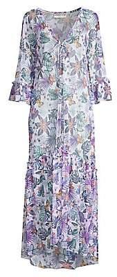 Chiara Boni Women's Noura Illusion Butterfly & Leaf-Print Maxi Dress