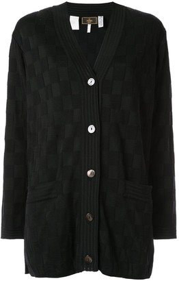 Fendi Pre Owned Check Pattern Cardigan
