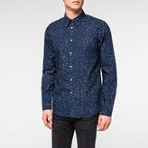 Paul Smith Men's Slim-Fit Navy 'Hearts' Print Shirt