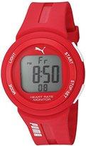 Puma Quartz Plastic and Polyurethane Automatic Watch, Color:Red (Model: PU911101004)