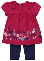 George Embroidered Dress and Leggings Set