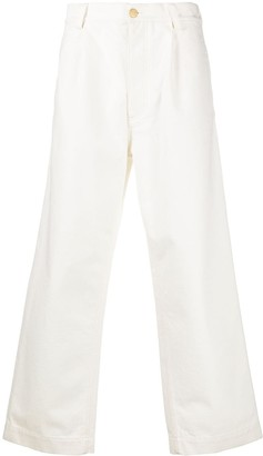 Marni Wide-Leg Textured Jeans